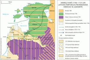 Krievijas, Vidzemes un Inflantijas robežas 1700. g.