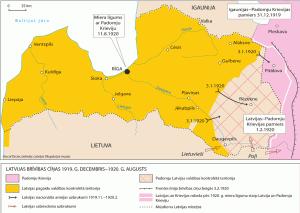 Krievijas un Latvijas robeža, 1920. g.