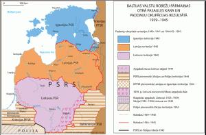 Baltijas republiku un Krievijas PSR robežas 1945. gadā