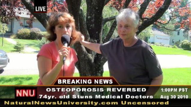 74. g. v tante, kura tika vaļā no osteoporozes pati - ēdot zaļumus, vingrojot un atsakoties no saldumiem.
